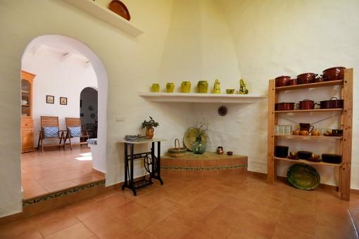 Feuerstelle in der Küche