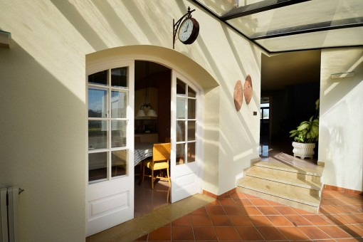 Zugang zum Innenhof von der Küche aus