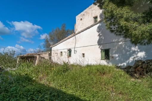 Anwesen mit renovierungsbedürftigem Haus in Llucmasanes