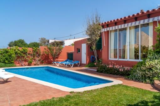 Einfamilienhaus mit Pool und touristischer Vermietlizenz in Cala en Porter