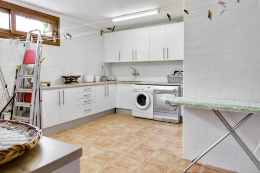 Waschküche der Villa