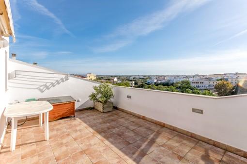 Terrasse mit Blick auf Ciutadella