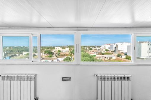 Die Wohnung bietet hervorragende Ausblicke