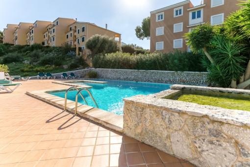Ruhig gelegenes Apartment mit Terrasse in Torre Soli-Son Bou