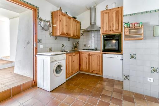 Küche mit Zugang nach Außen