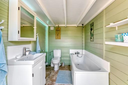 Badezimmer in der Hütte