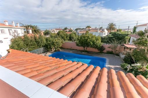 Traumhafter Ausblick von der Dachterrasse aus