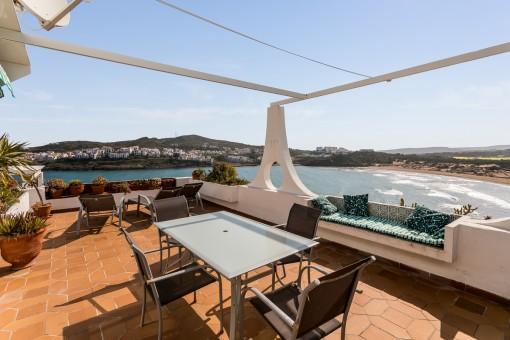 Spektakuläre Wohnung mit Blick auf den Strand von Cala Tirant