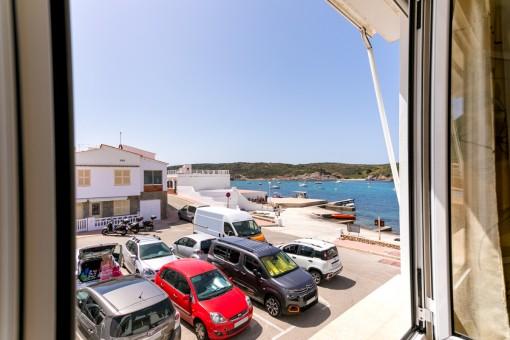 Haus mit Garage und Meerblick in dem schönen, typischen Fischerdorf Es Grau