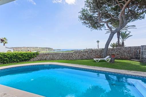 Schöner Meerblick der Villa