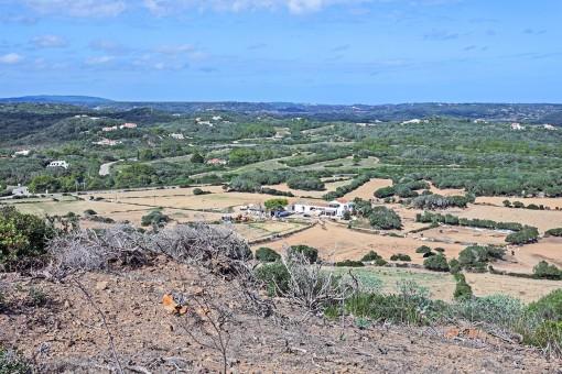 Ansicht des großen Anwesens