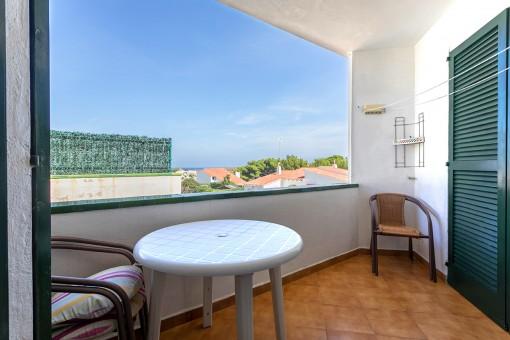 Wohnung mit Balkon in ruhiger Ecklage im Einkaufs- und Restaurantbereich in Addaya