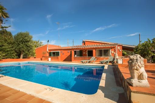 Idyllisches Landhaus in S'Algar mit Pool und Vermietlizenz
