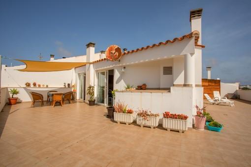 Tolle Penthouse Wohnung mit großer Dachterrasse in Ciutadella